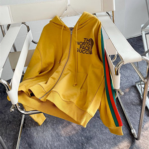 gucci x the north face web print cotton sweatshirt