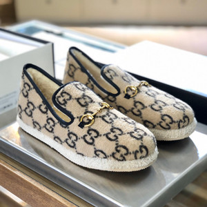 gucci men's gg wool loafer shoes