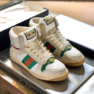 gucci men's screener leather high-top sneaker shoes