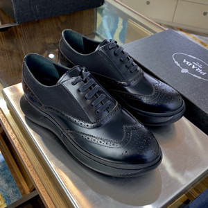 prada burshed leather oxford shoes