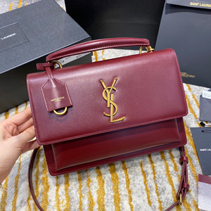 ysl yves saint laurent new medium sunset satchel in smooth leather #634723